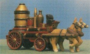 """Petro Horse Drawn Firewagon 3""""t x 5""""L"""