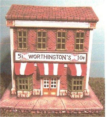 "Petro Worthington's 5 & 10  4x6x6.5"""