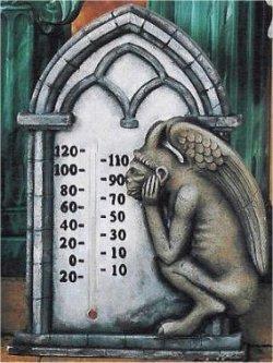 "Gargoyle Thermometer Plaque 13""tx9""w"