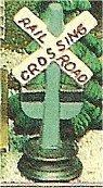 "Railroad Crossing Sign 4""t"
