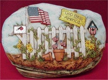 God Bless America Slab 10x6.5""