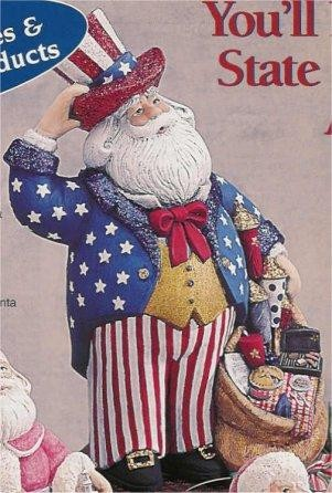 "4th of July Santa 15""t"