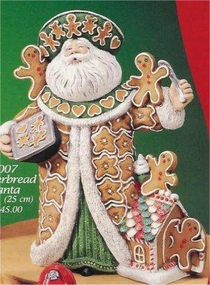 "Gingerbread Santa 10""T"