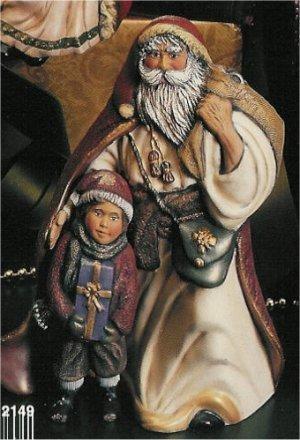 "Hungarian Santa w/Child 11"""