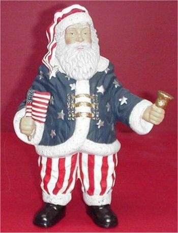 "Old Glory Santa 10.5"""