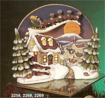"""Kimple Santa Scene 10"""" t"""