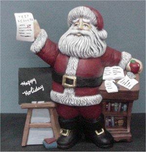 "Teacher Santa 9""H"