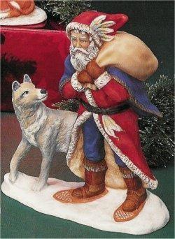 """PV Santa w/Wolf 9.5""""T"""