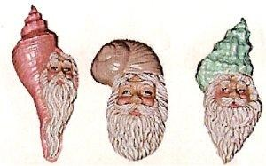 Seashell Santa Set 4.25""