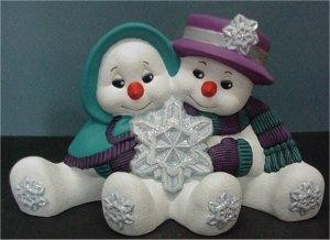 "Cuddle Snow Couple 10.5""L"
