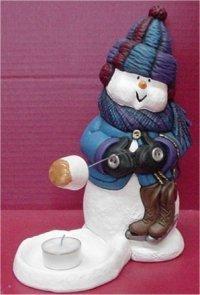 """Snowman Roasting Marshmallow 10.5""""t"""