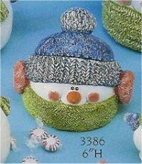 "Snowman Treat Jar 6""T"
