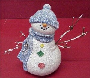Snowman w/Twigs for Arms 8""