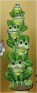 """Stack of Frogs 8.5""""T"""