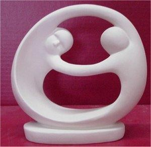 "Couple Circle Statue 7""T"