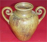 """Curled Hndl Vase 8""""H"""