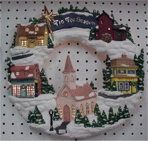 """Wreath, Village 16"""" D"""
