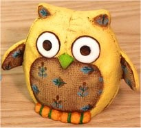 "A Mini Small Eyed Felty Owl 4""t - CPI"