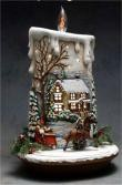 "Lg. Candle House Scene 17""t lite kit not/included"