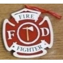 "KP Fireman Shield Orn. 2.""x5"""