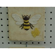 Bee Plaque 5.5""
