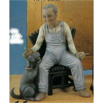 "Blk Old Man w/Dog 7.5""T Chair/sold sep."