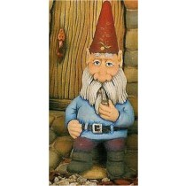"CPI Shelf Sitting Gnome w/Pipe 9.5""T"