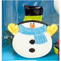 "CPI Snowman Plate 10""l"