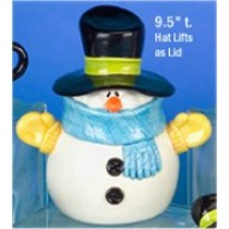 "CPI Snowman Cookie Jar 9.5""t"