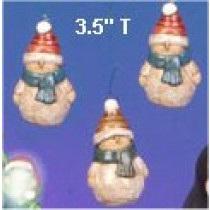 "CPI Snowmen Ornaments (3) 3.5""t"