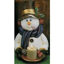 """CPI Snowman Bust 17""""T"""