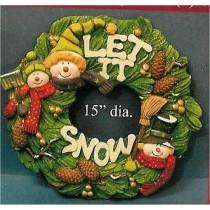 "CPI Snowmen Wreath 15""D"