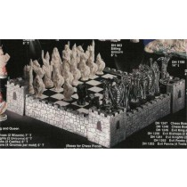Mystical Chess Set Board & Walls included Unpainted