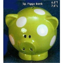 "Clay Magic Piggy Bank 6.5""T"