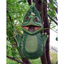 "DH Frog Birdhouse 11x7"" rope kit included"