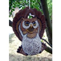 "DH Owl Birdhouse 11x8"" rope kit included"