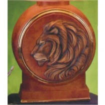 Lion Decanter w/Lid 13.5""