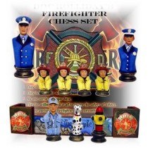 FireFighter's Chess Set Board sold Sep.