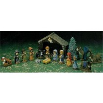 "DH Childs Nativity 4.5""Tx6.5""w"