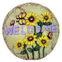 Butterfly Welcome Slab/Plaque 11""