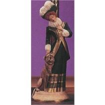 """Victorian Lady w/Dog 13.75""""t"""