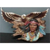 "Brave Eagle Wall Plaque 16""L"