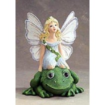 "Fairy Riding Frog 9""T"