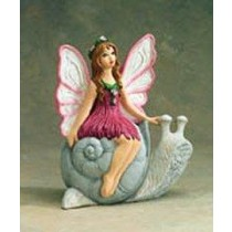 "Fairy Riding Snail 9""H"