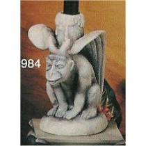 "Gargoyle Candle Holder 7.5""T"