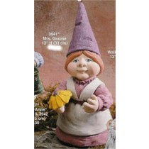 "Gnome Lady w/Flower 13""T"