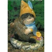 "Boy Gnome w/Mouse 3.5""T"
