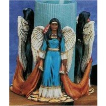 "Indian Angel Candle holder 6""T candle Not Included"
