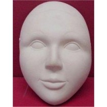 "Plain Mask w/Eyes 7.5""H"