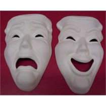 "Comedy Tragedy Masks 8x5"" Set"